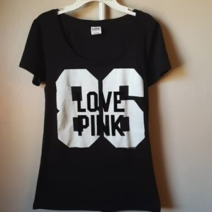 PINK VS BLACK AND WHITE TEE S